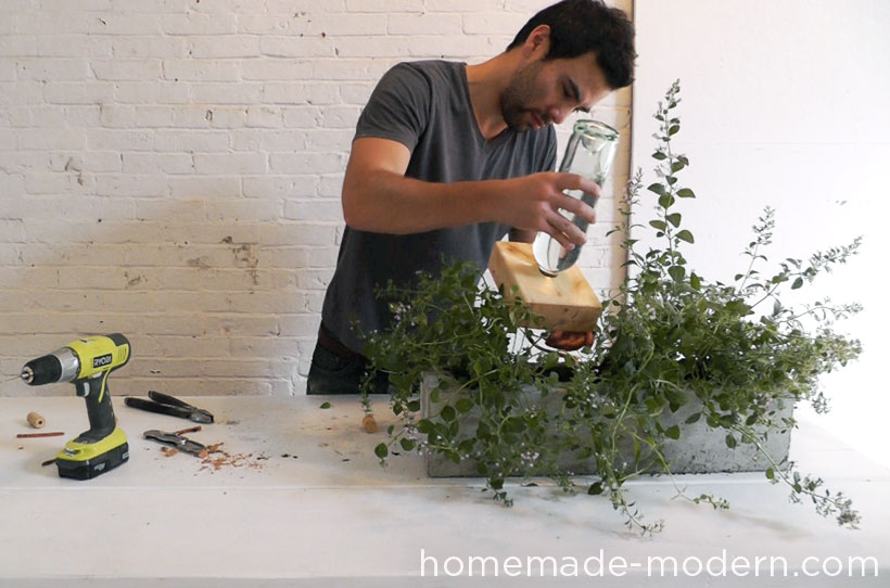 HomeMade Modern DIY EP41 Self Watering Concrete Planter Step 19