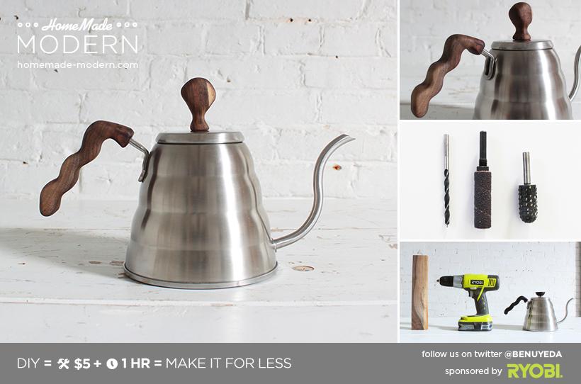 HomeMade Modern DIY Coffee Pot Upgrade Postcard