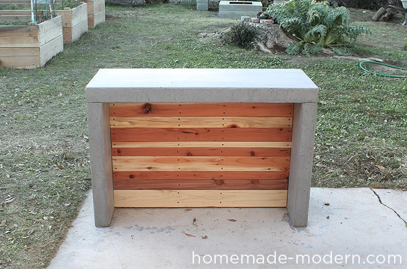 HomeMade Modern DIY Concrete Bar Options