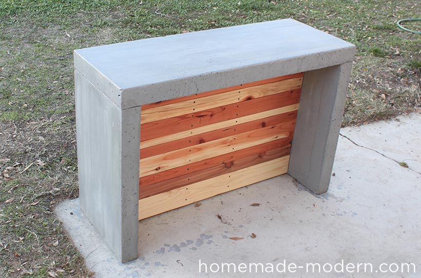 Homemade modern ep55 concrete bar for Diy outdoor bar top