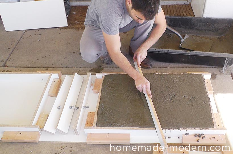 HomeMade Modern DIY EP55 Concrete Bar Step 11