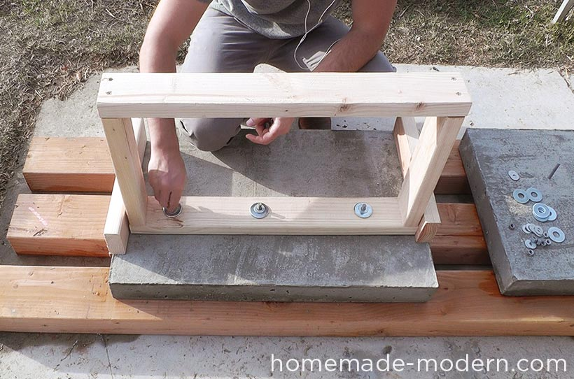 HomeMade Modern DIY EP55 Concrete Bar Step 16