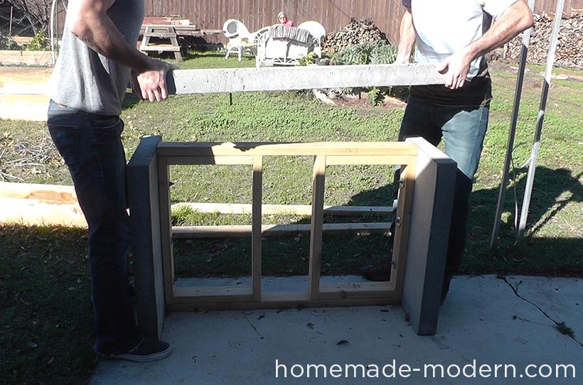 HomeMade Modern DIY EP55 Concrete Bar Step 17