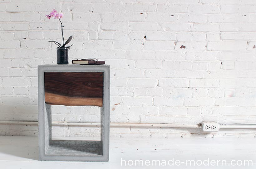 HomeMade Modern DIY EP56 Concrete Walnut Nightstand Options