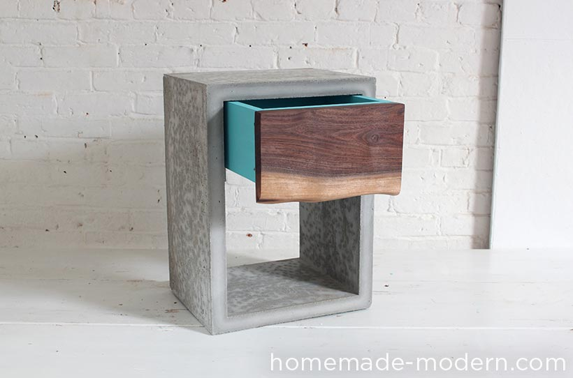 HomeMade Modern DIY EP56 Concrete Walnut Nightstand Options. HomeMade Modern EP56 Concrete Walnut Nightstand