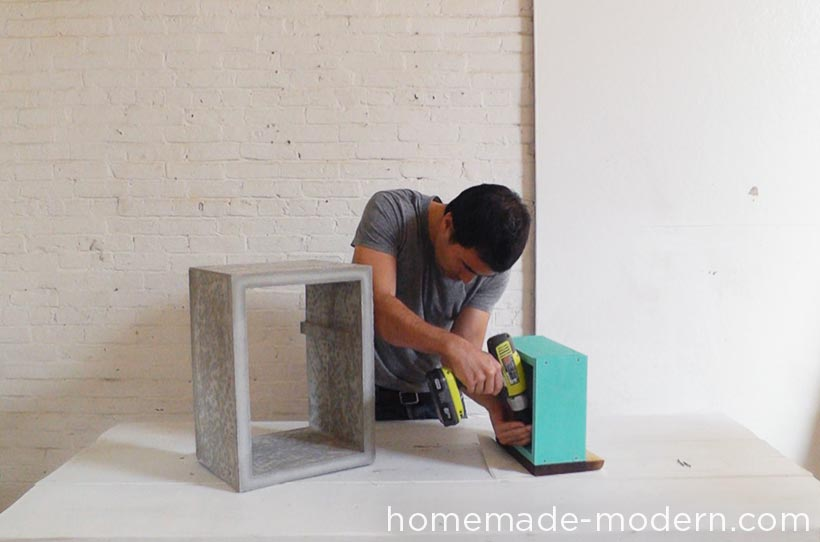 HomeMade Modern DIY EP56 Concrete Walnut Nightstand Step 13