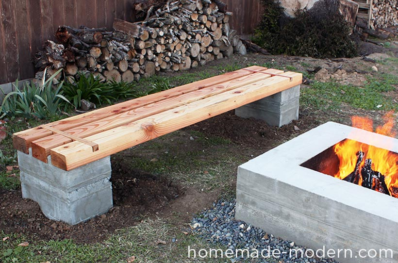 HomeMade Modern EP57 Outdoor Concrete Bench