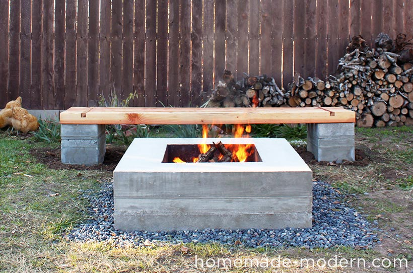 HomeMade Modern DIY Outdoor Concrete Bench Options