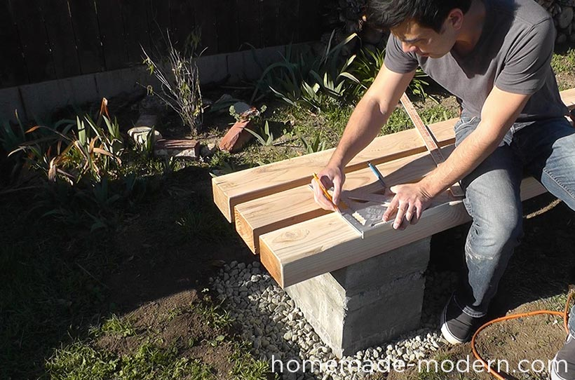 HomeMade Modern DIY EP57 Outdoor Concrete Bench Step 10