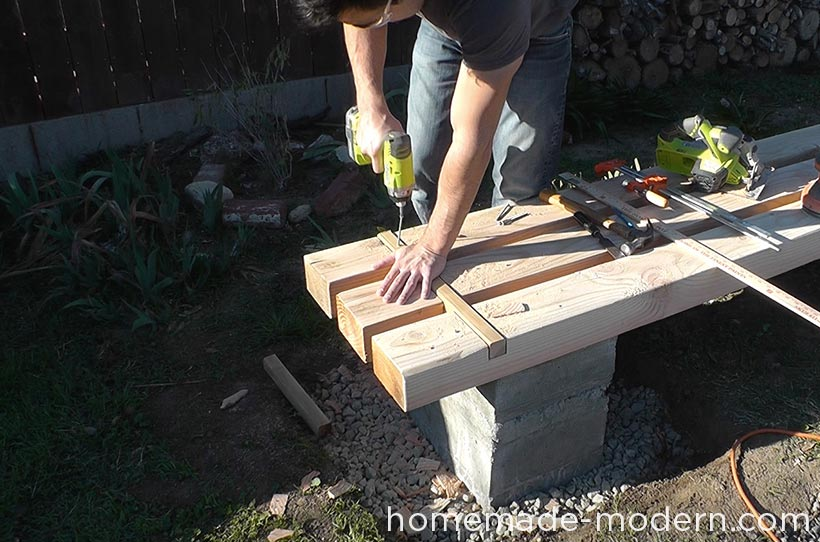 HomeMade Modern DIY EP57 Outdoor Concrete Bench Step 11