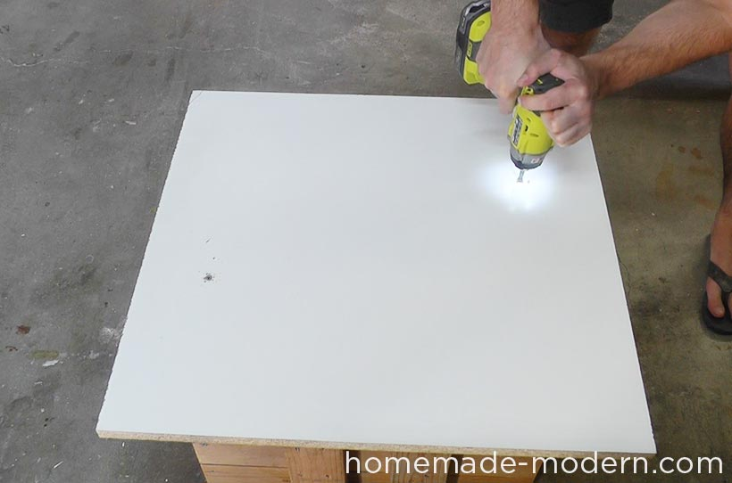 HomeMade Modern DIY EP57 Outdoor Concrete Bench Step 3