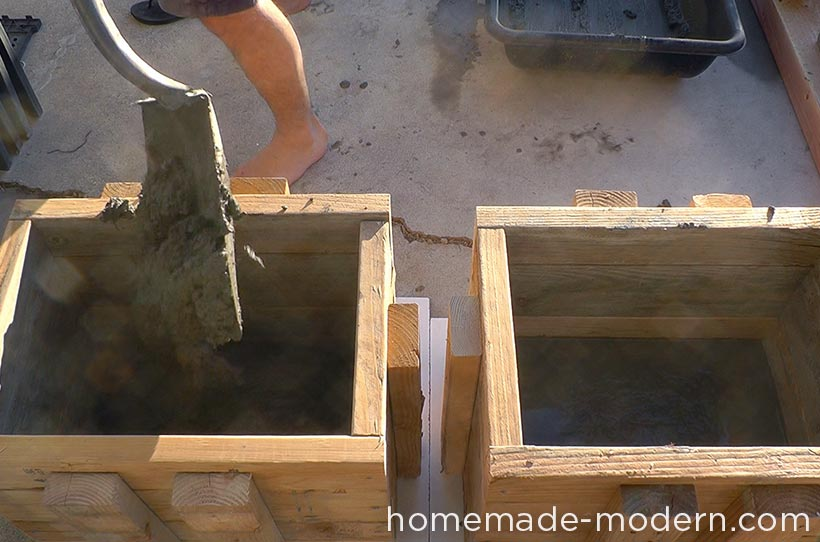 HomeMade Modern DIY EP57 Outdoor Concrete Bench Step 4