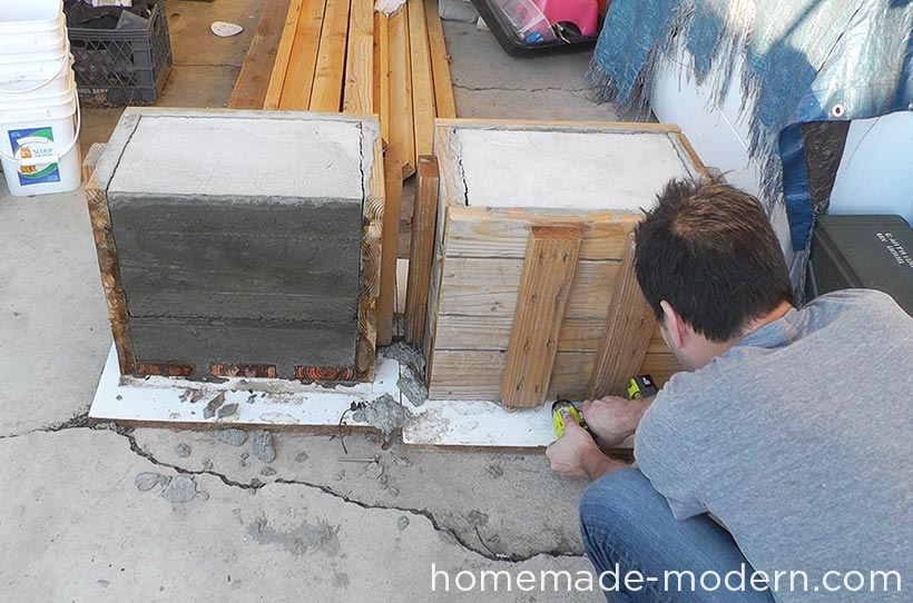 HomeMade Modern DIY EP57 Outdoor Concrete Bench Step 6
