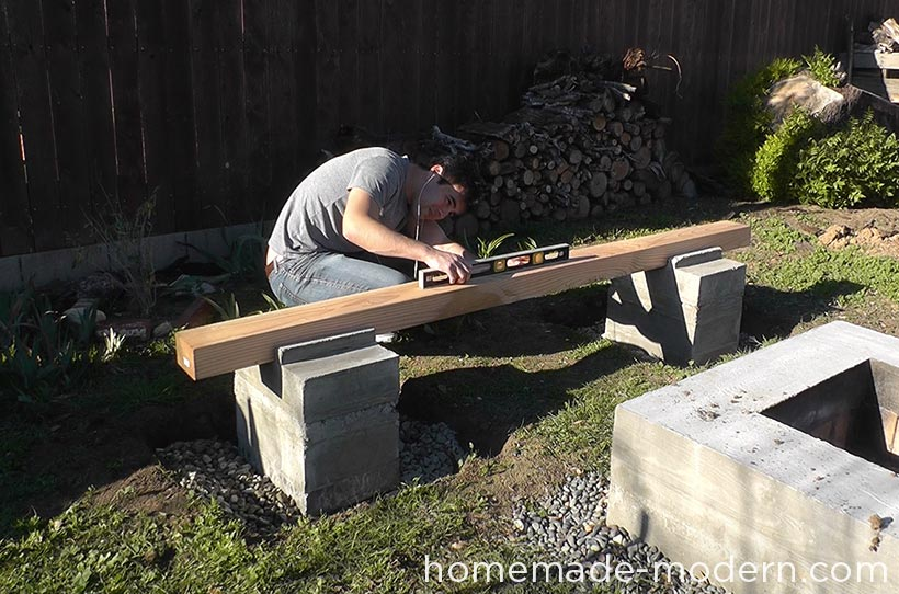 HomeMade Modern DIY EP57 Outdoor Concrete Bench Step 8
