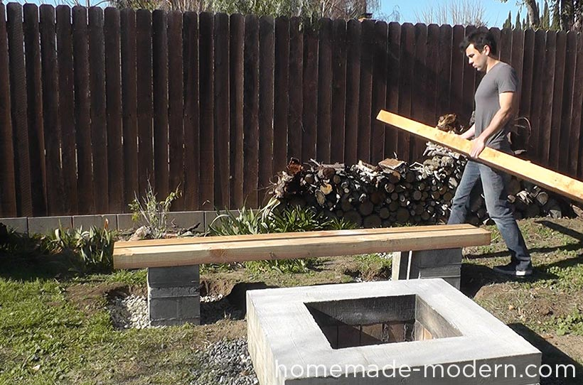HomeMade Modern DIY EP57 Outdoor Concrete Bench Step 9