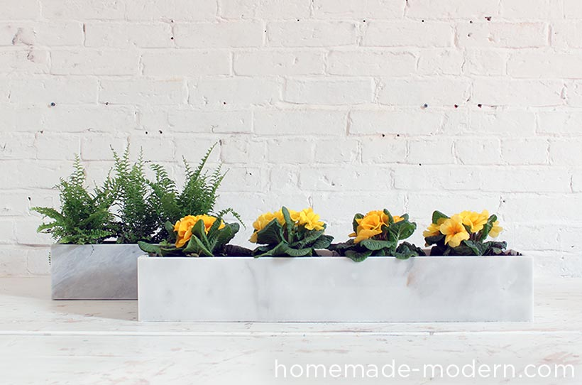 HHomeMade Modern DIY EP59 Marble Planters Options