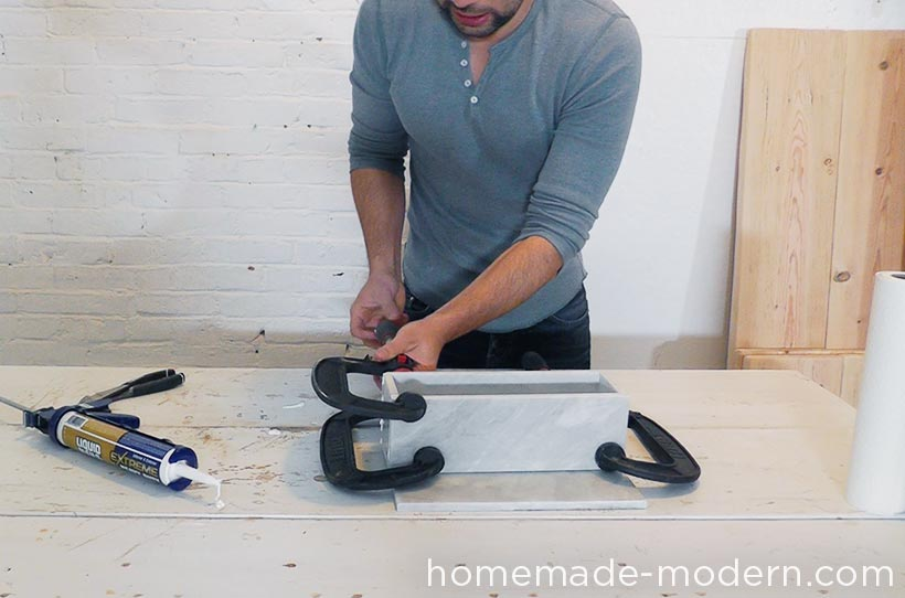 HomeMade Modern DIY EP59 Marble Planters Step 4