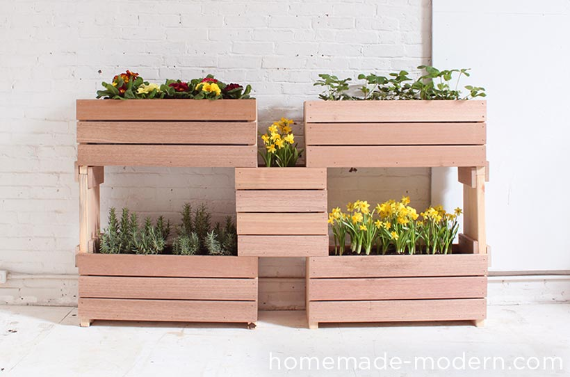 HomeMade Modern DIY Stackable Planters Options