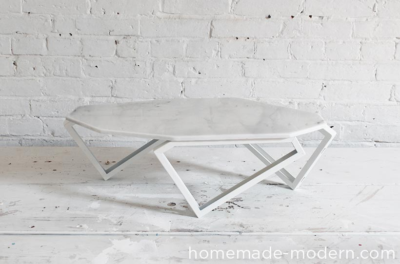 HomeMade Modern EP61 Geometric Marble Coffee Table