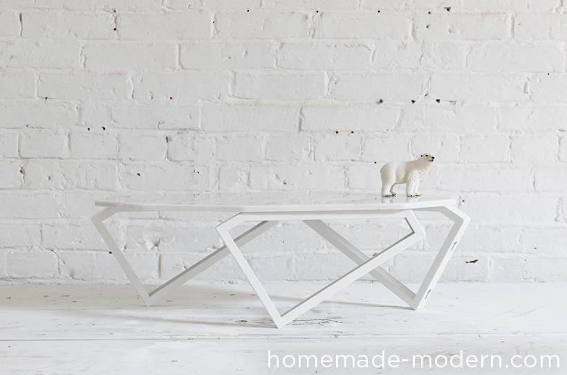 HomeMade Modern EP Geometric Marble Coffee Table - Geometric marble coffee table