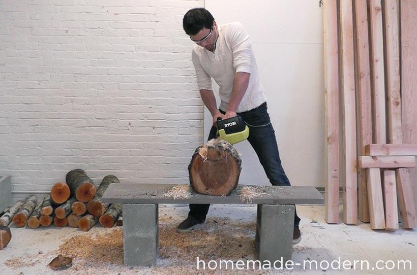 HomeMade Modern DIY EP62 Little Log Chair Step 4