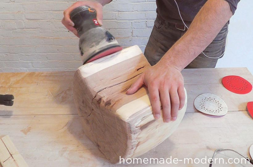 HomeMade Modern DIY EP62 Little Log Chair Step 6