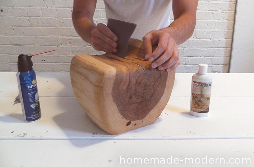 HomeMade Modern DIY EP62 Little Log Chair Step 7