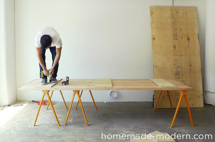 HomeMade Modern DIY EP64 Conference Table Step 13