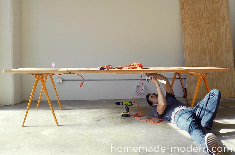 HomeMade Modern DIY EP64 Conference Table Step 16