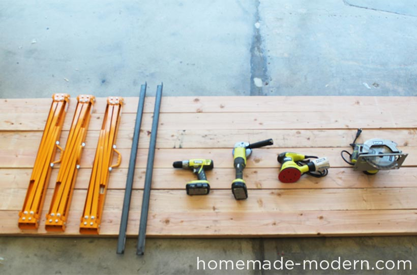 HomeMade Modern DIY Conference Table Supplies