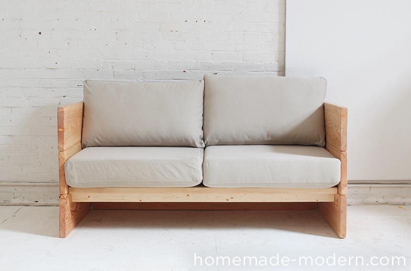 Ana White | DIY Box Sofa - Featuring HomeMade Modern - DIY Projects