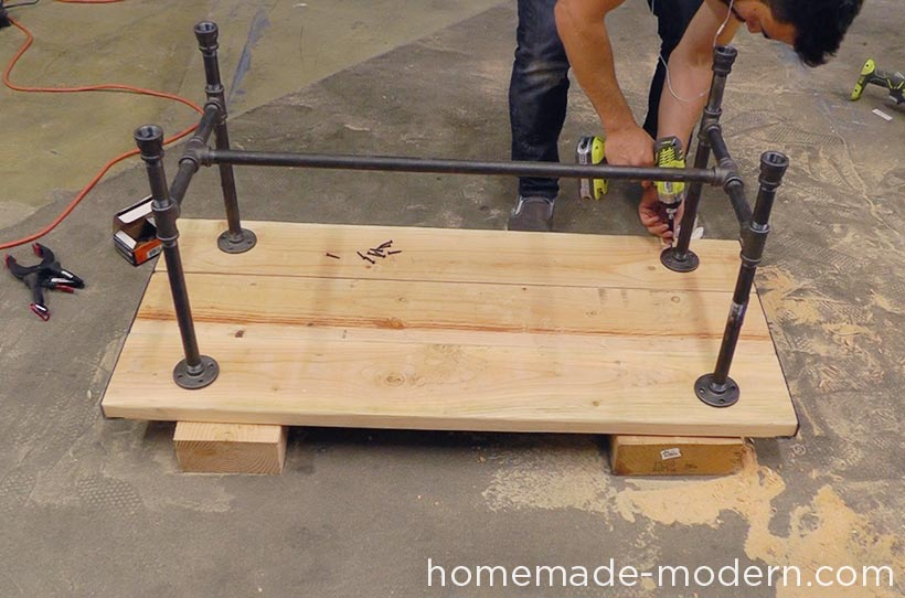 homemade modern ep68 pipe coffee table