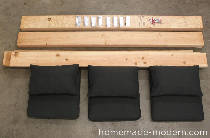 HomeMade Modern DIY Outdoor Sofa Supplies