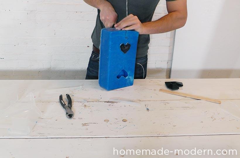 HomeMade Modern DIY EP72 Concrete Heart Box Step 4