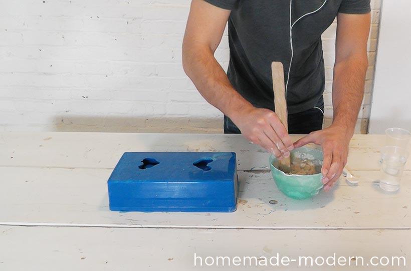 HomeMade Modern DIY EP72 Concrete Heart Box Step 5