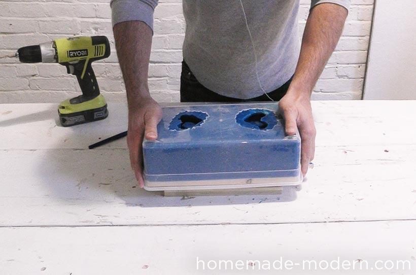 HomeMade Modern DIY EP72 Concrete Heart Box Step 7