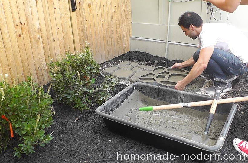 Homemade modern ep75 concrete walkway for Removing concrete walkway