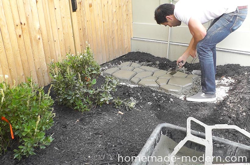 HomeMade Modern DIY EP75 Concrete Walkway Step 4