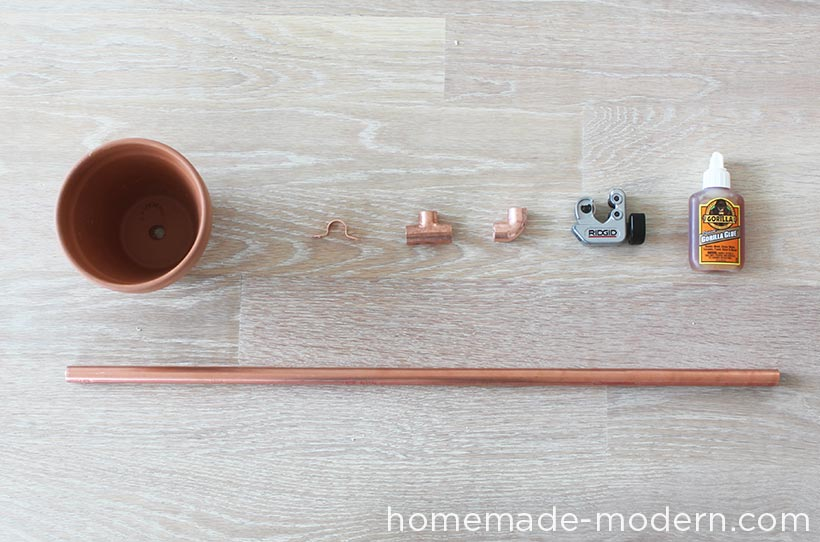 HomeMade Modern DIY Copper Herb Garden Supplies