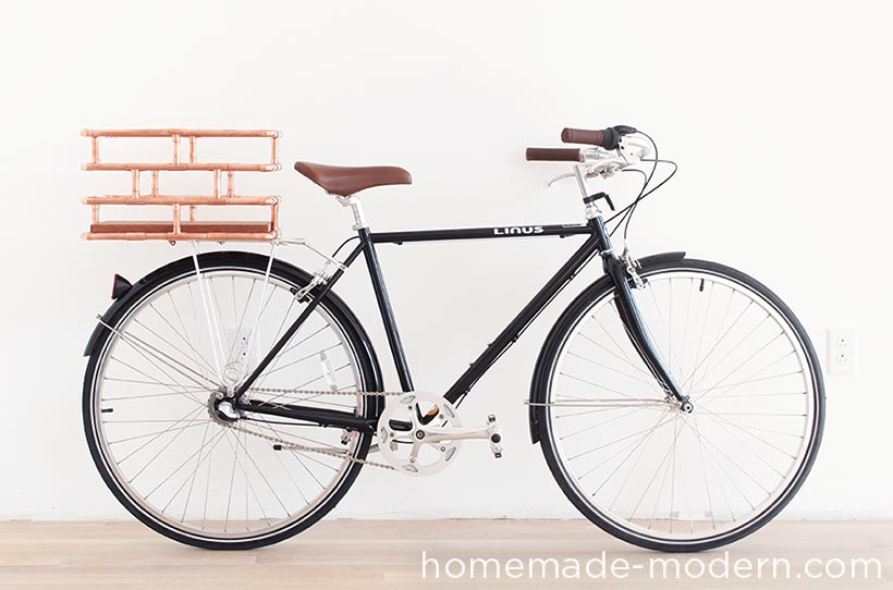 HHomeMade Modern DIY EP78 Copper Bike Basket Options