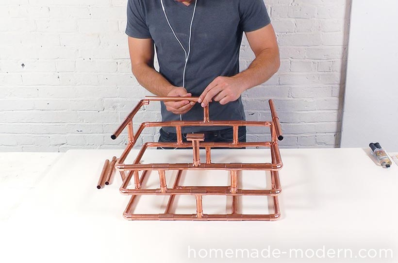 HomeMade Modern DIY EP78 Copper Bike Basket Step 2