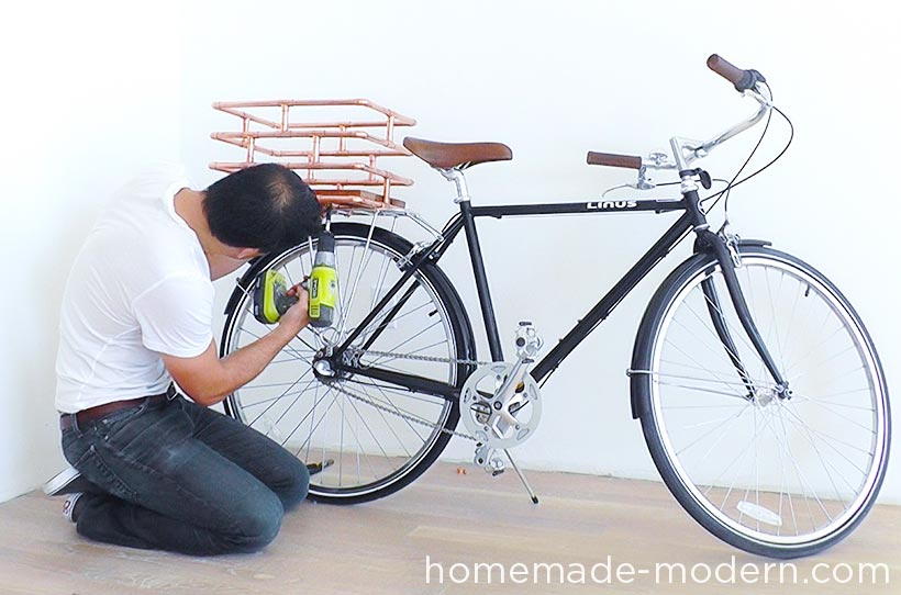 HomeMade Modern DIY EP78 Copper Bike Basket Step 7