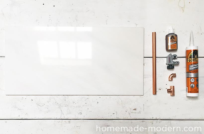 HomeMade Modern DIY Copper Marble Table Supplies