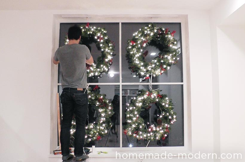 HomeMade Modern DIY holiday workshop wreath project with The Home Depot