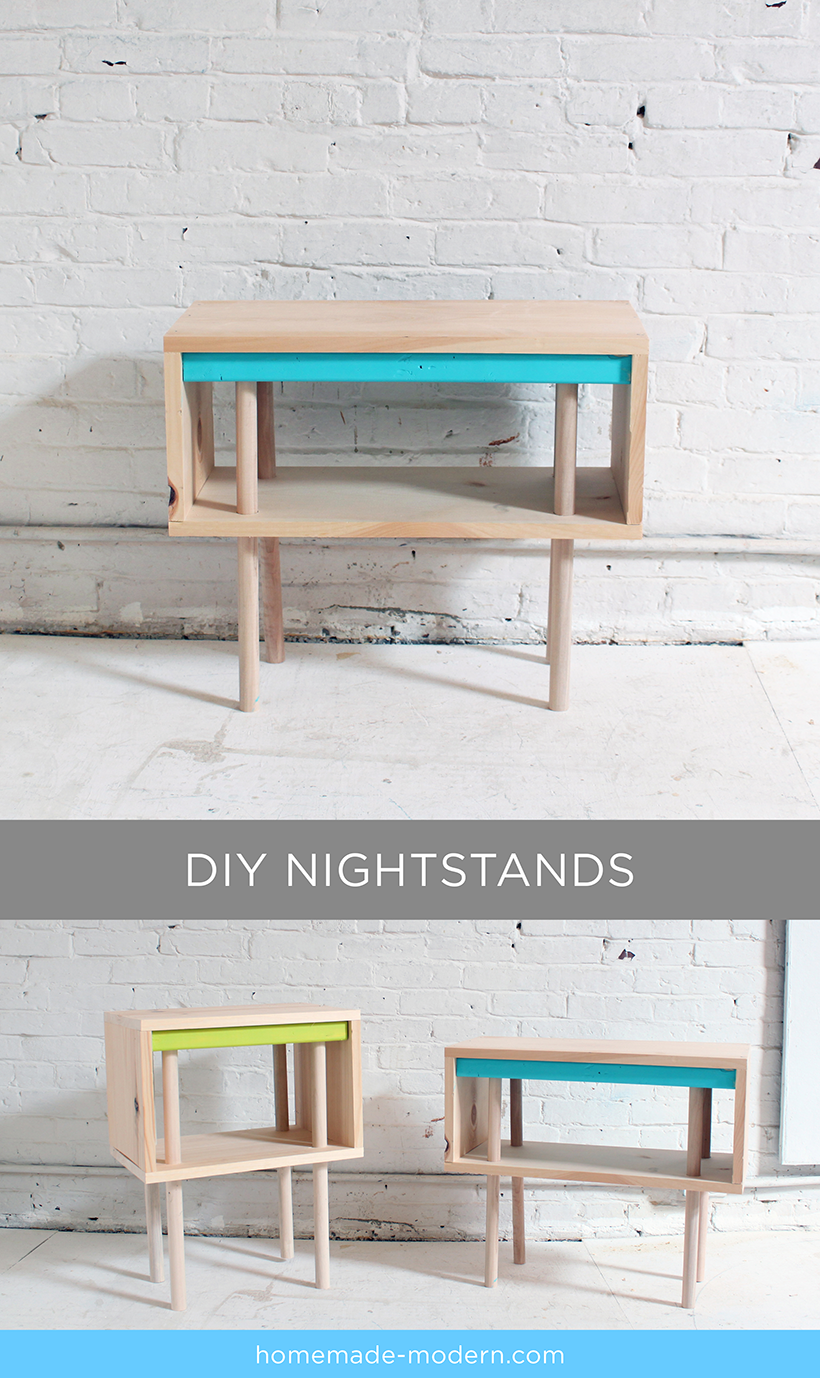 Full instructions for the DIY pine nightstands are exclusively in the HomeMade Modern Book by Ben Uyeda. For a sneak peek of some of the projects, check out HomeMade-Modern.com.