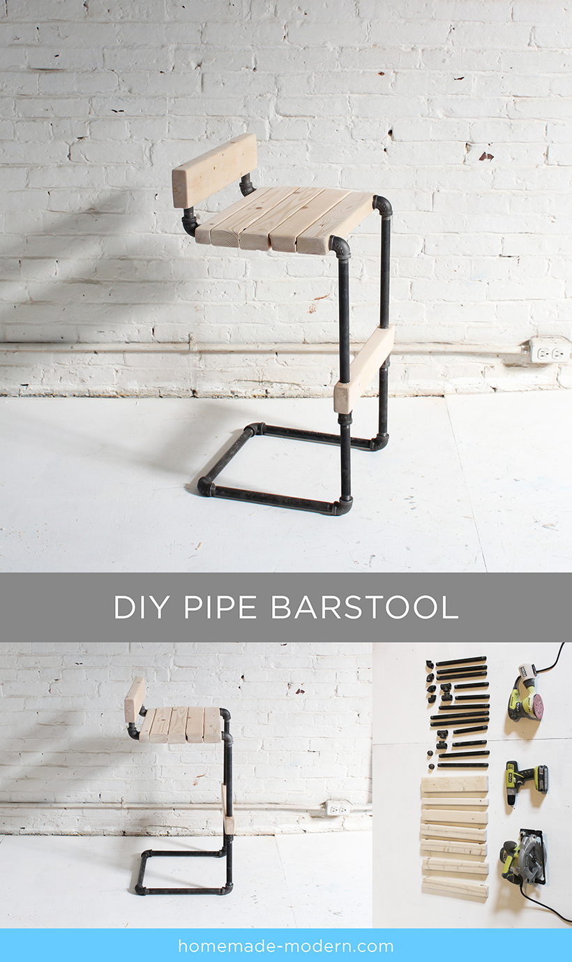 Full instructions for the DIY pipe stool are exclusively in the HomeMade Modern Book by Ben Uyeda. For a sneak peek of some of the projects, check out HomeMade-Modern.com.