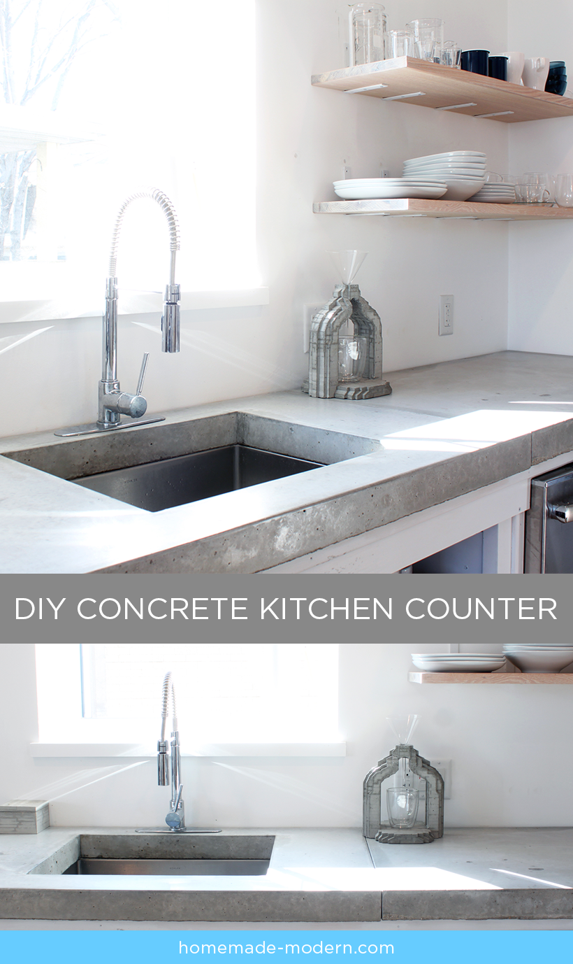 Modern Kitchen Countertop Homemade Modern Ep87 Concrete Kitchen Countertops