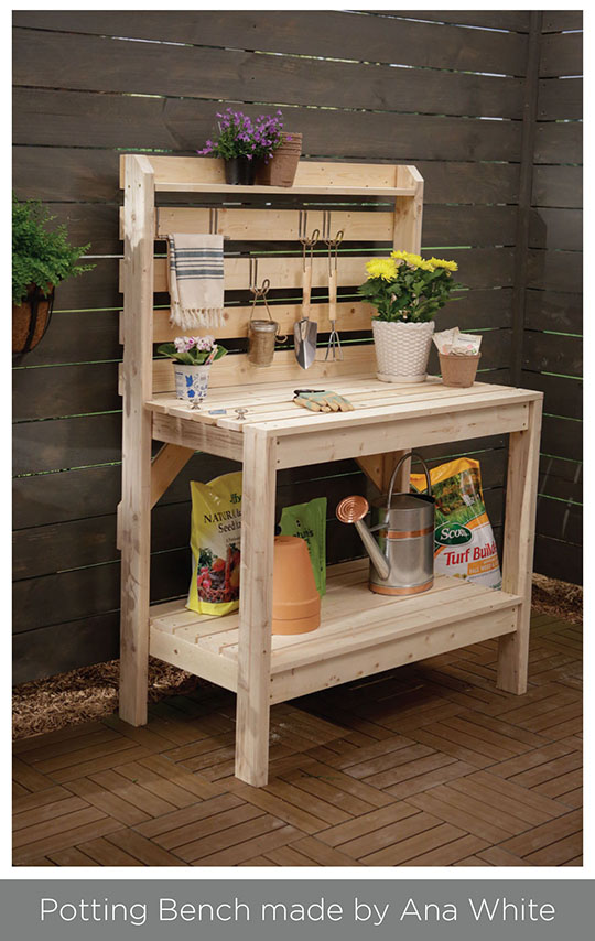 Potting bench by Ana White