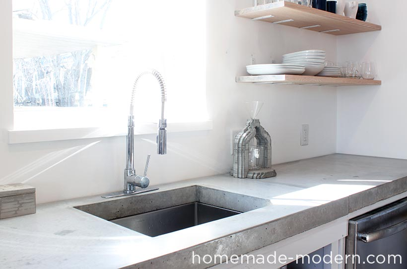 This Concrete Kitchen Countertop Was Built For Less Than $120. The Entire  Kitchen Is A