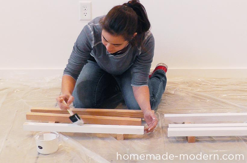 This entire kitchen is a DIY project that costs less than $3500 for everything including appliances. There are three videos on the HomeMade Modern YouTube channel that show how to make the kitchen cabinets, concrete countertop and open shelving. For more information go to HomeMade-Modern.com.
